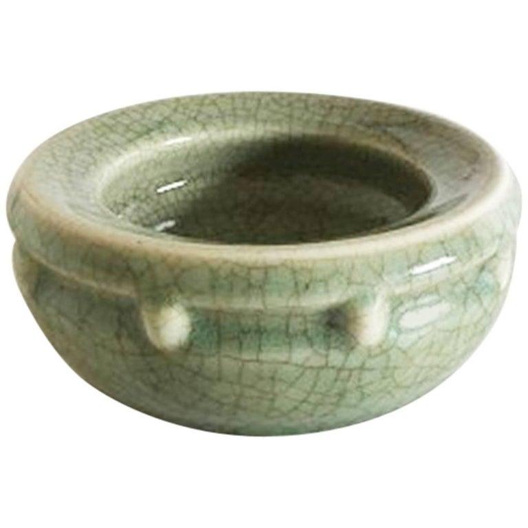 Bing & Grondahl Stoneware Celedon Unique Dish