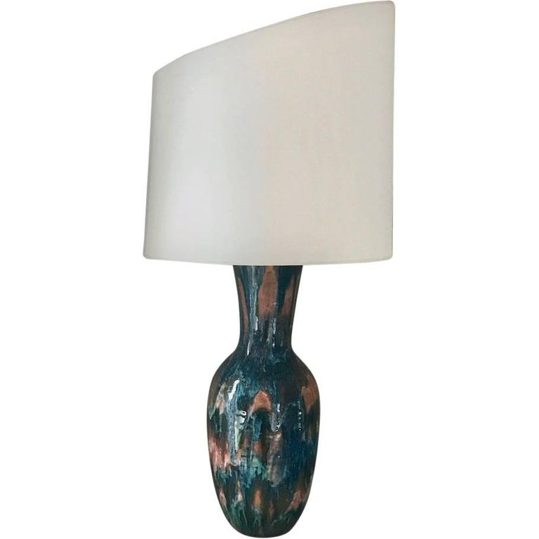 Handmade Modern, Custom Glazed Ceramic Vase #5, Vessel, Decorative Table Lamp