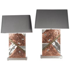 """Pair of Table Lamps """"Meteorite"""" by Stan Usel"""