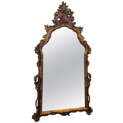 Chinoiserie and Gilt Italian Wooden Mirror