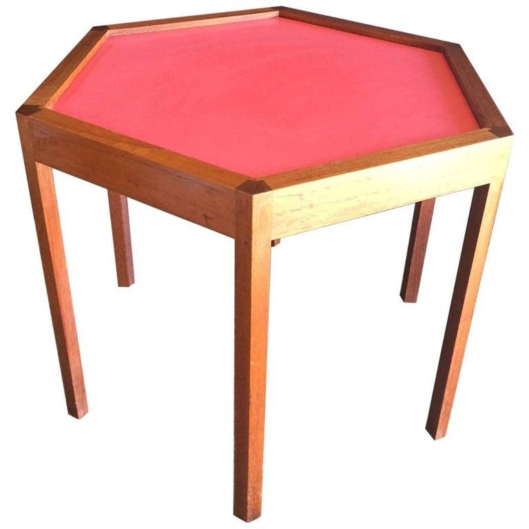 Octagonal Teak Side Table by Hans Andersen