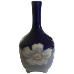 Royal Copenhagen Art Nouveau Vessel Vase No. 367/135 with Flower Decoration