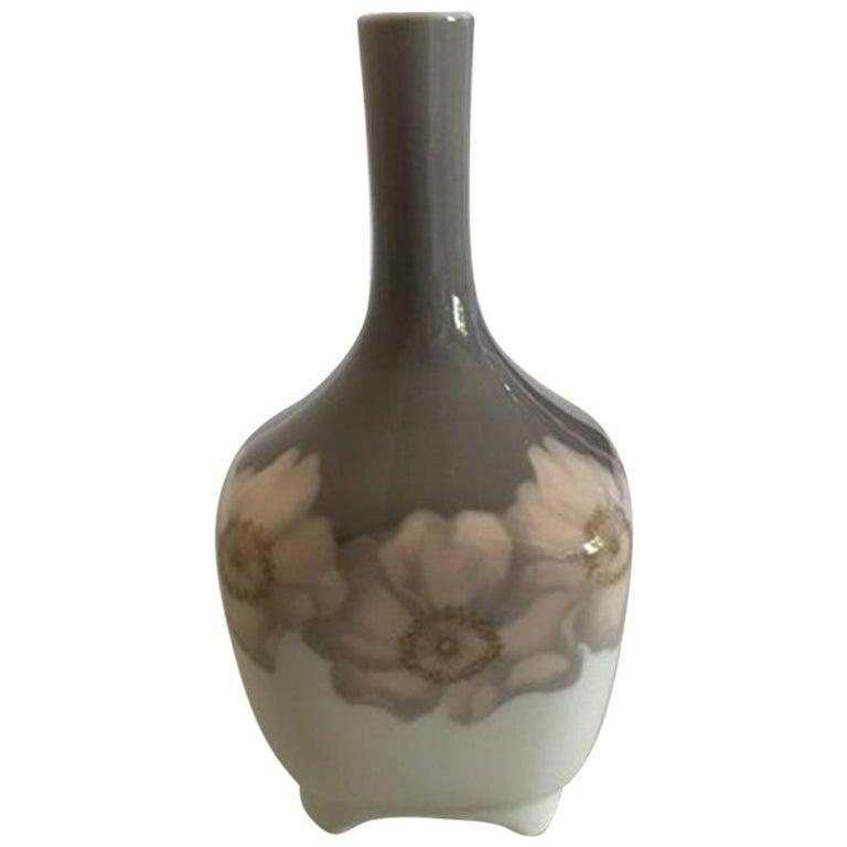 Royal Copenhagen Art Nouveau Vessel Vase No 200135 With Daffodil