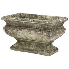 Large Rectangular English Garden Stone Pedestal Trough or Planter