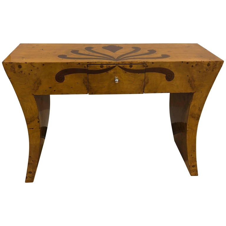 art nouveau style inlaid console for sale at 1stdibs. Black Bedroom Furniture Sets. Home Design Ideas