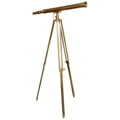 Brass Telescope with Stand Signed Ross, London