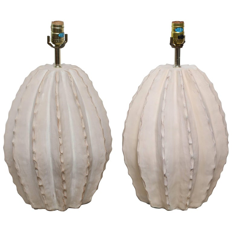 Pair of Midcentury Cactus Lamps For Sale