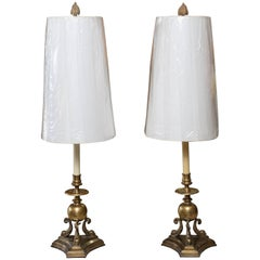 Pair of Chapman Dolphin Motif Lamps
