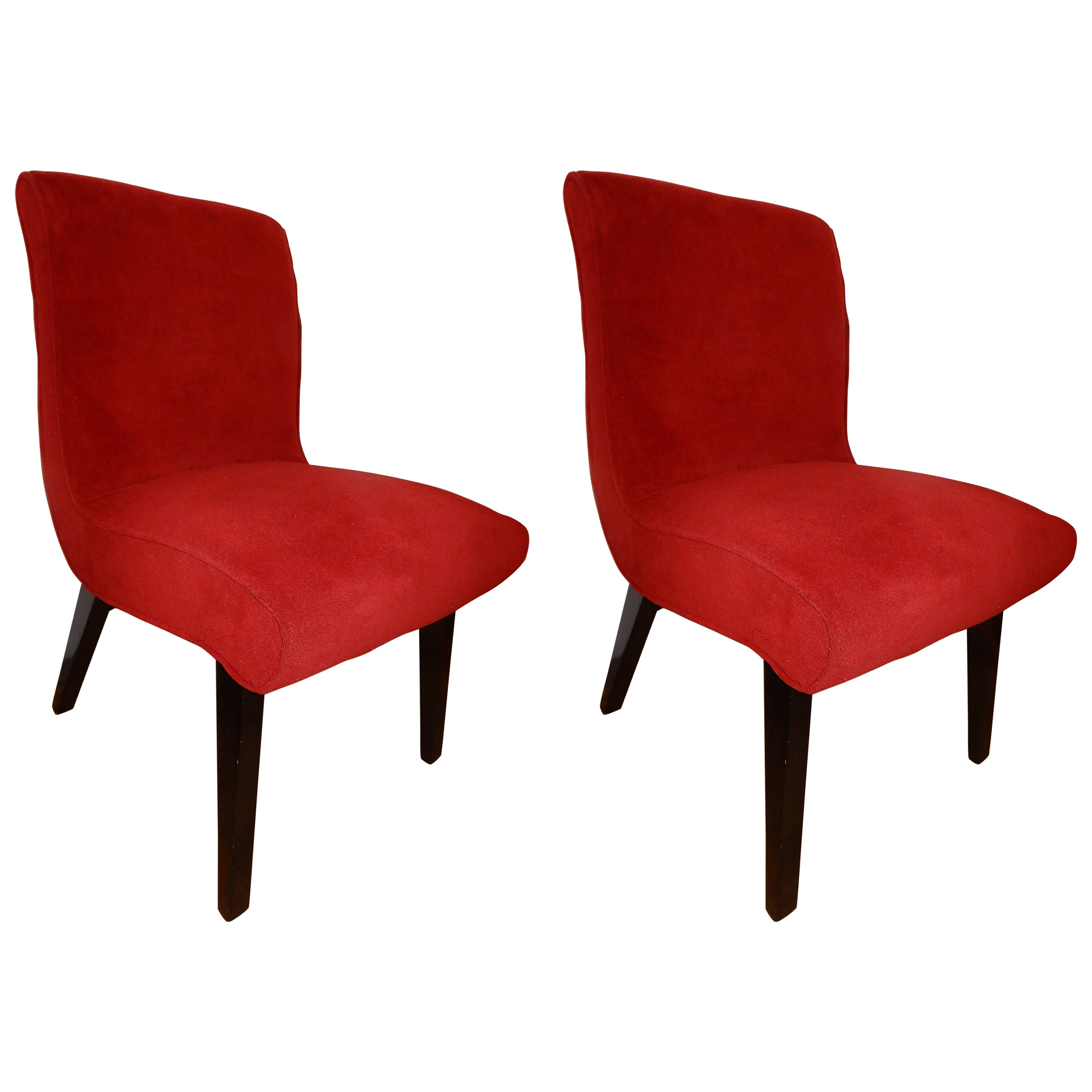 Set of Mid-Century Modern Jens Risom Scoop Chairs for Knoll, 1950s