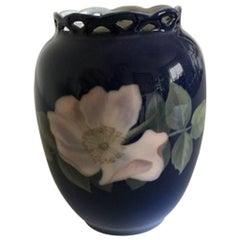 Royal Copenhagen Art Nouveau Vase with Pierced Rim #353/160