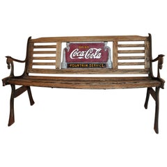Coca Cola Fountain Service Bench