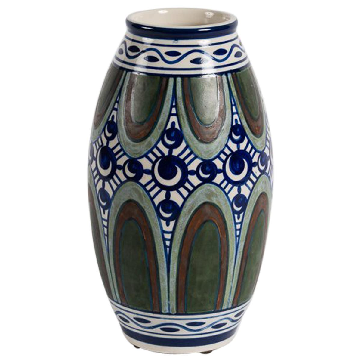 Charles Catteau, Art Deco Vase, Belgium, circa 1920