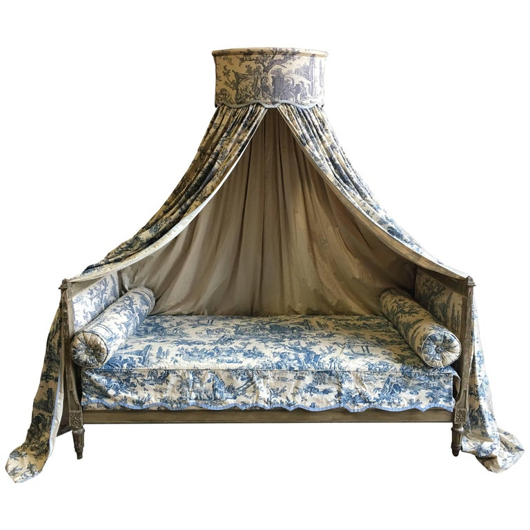 French Louis XVI Canopy Bed, Early 19th Century For Sale