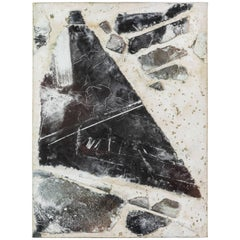 Textured Mixed-Media Abstract Painting, 1990s