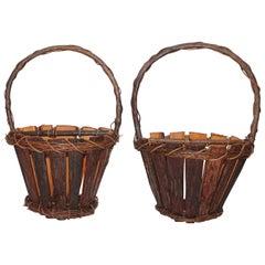 Adirondack Wall Baskets, Pair