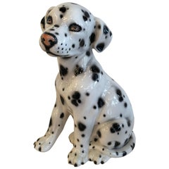 Vintage Italian Dalmatian Dog Statue Made in Italy