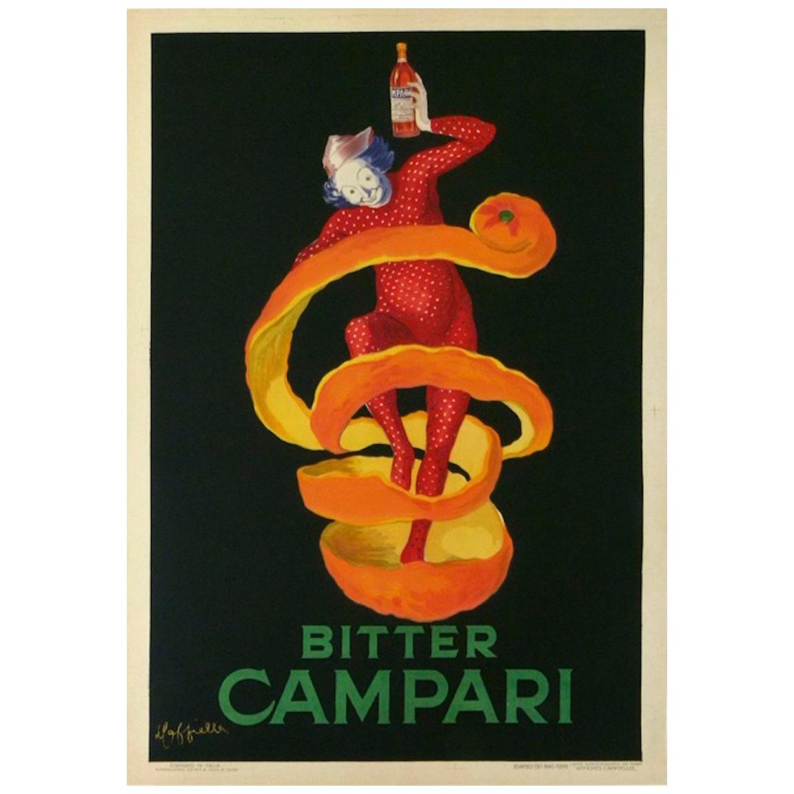 Original Vintage Poster Bitter Campari Spiratello Cappiello 1921 Oversize