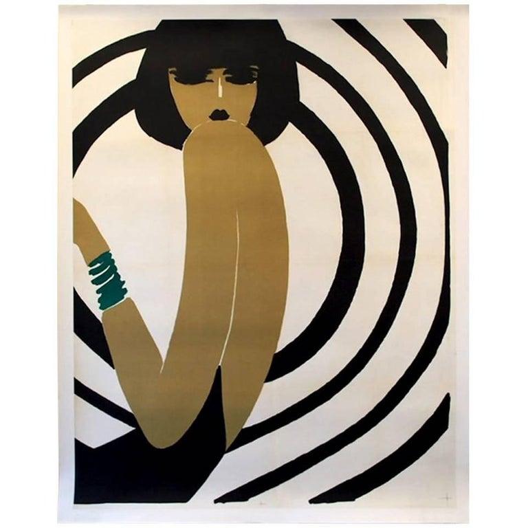 Original Vintage Poster Villemot Spirale Bernard Villemot, 1967
