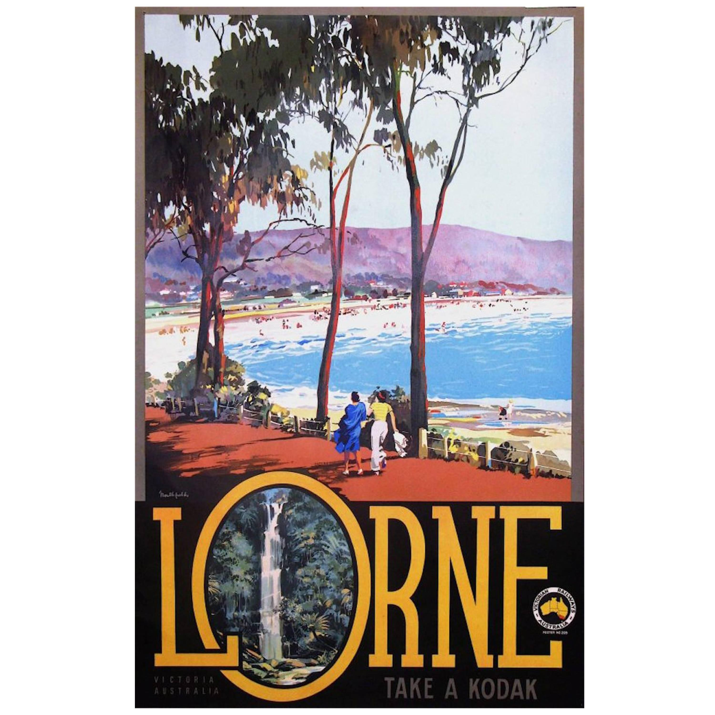 Original Vintage Poster Lorne Australia by James Northfield, 1935