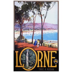 Original Vintage Poster Lorne Australia by James Northfield, 1935