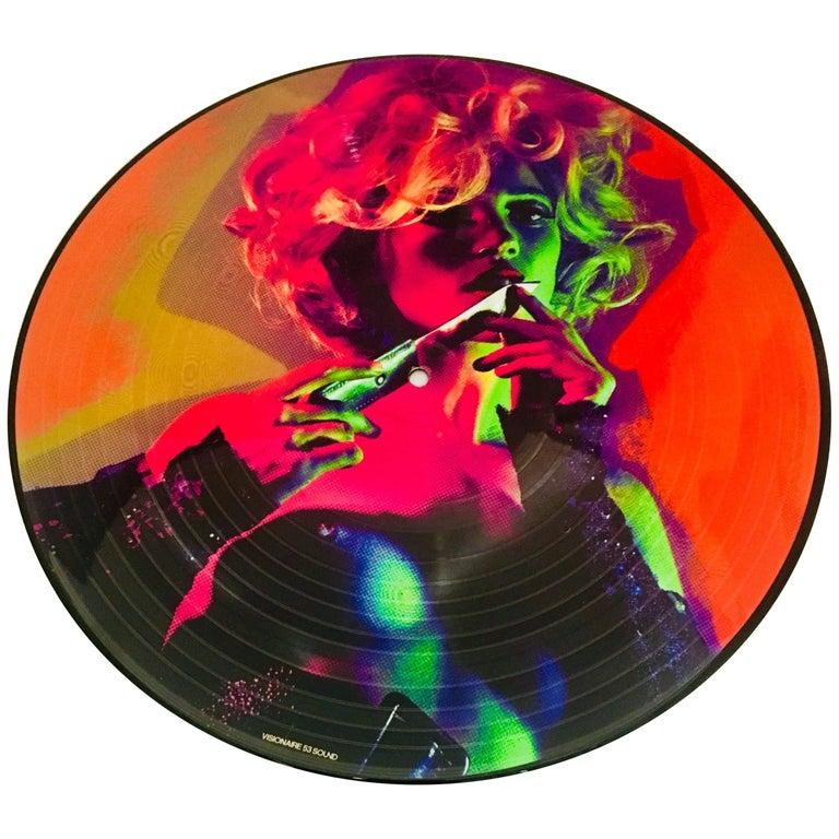 Vintage Jimi Hendrix Illustrated Vinyl Record At 1stdibs