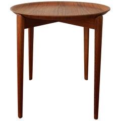 Swedish Teak Tray Table, 1950s