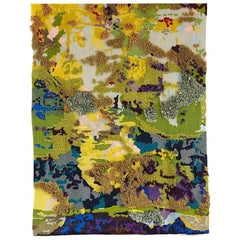 Hand Crafted  Fibre Art Hand Embroidered Textile Contemporary Tapestry