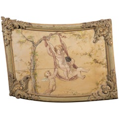 19th Century Louis XV Style Boiserie Panel with Oil Painting