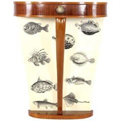Small Italian Console from the 1950s in the Manner of Fornasetti