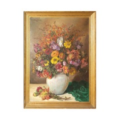 Floral Still Life Painting by Johannes Fischer