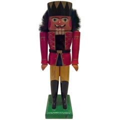 Vintage Christmas Nutcracker in Wood from Erzgebirge Germany