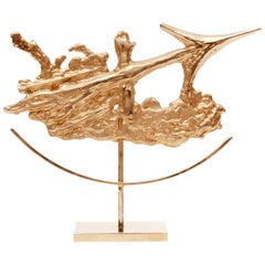 Gilded Sagittarius Zodiac Sculpture by Philippe Cheverny, 1970s