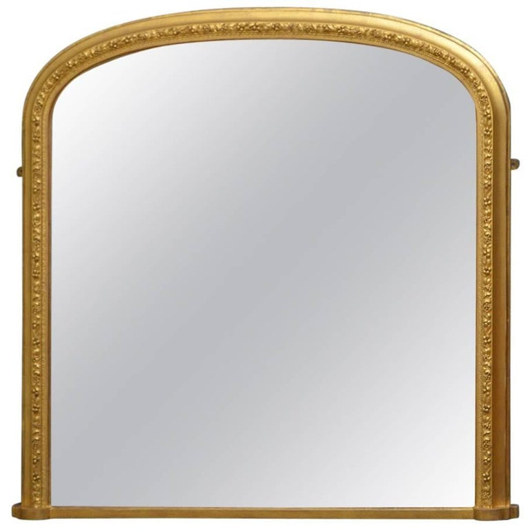 Victorian gilt overmantel mirror for sale at 1stdibs for Victorian mirror