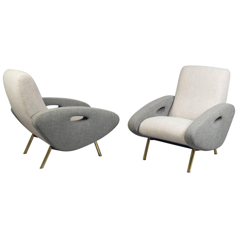 Pair of Armchairs by Maurice Mourra Freres, 1950s 1