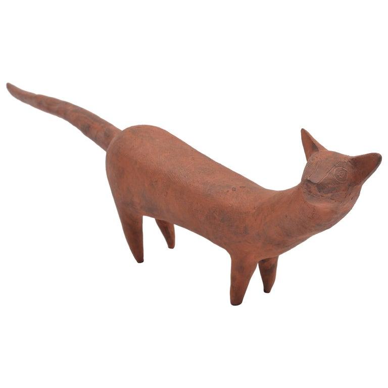 Leza McVey Ceramic Cat Sculpture