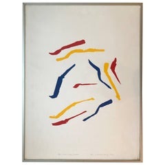 'Blue, Red and Yellow', Silk Screen