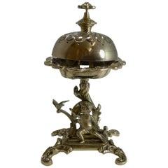 Figural Victorian Desk / Counter Bell, circa 1860 Cherub