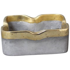 Aluminium and Brass Brutalist Style Decorative Ashtray by David Marshall c. 1970
