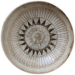 Large Decorative Bowl by Jacques Pouchain-Atelier Dieulefit, circa 1960s