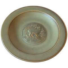 Bing & Grondahl Stoneware Dish with Motif of Deer No. L805