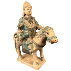 Important Ancient Imperial China Ming Military Horse Rider