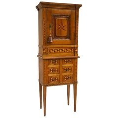 19th Century Swiss Marquetry Cabinet