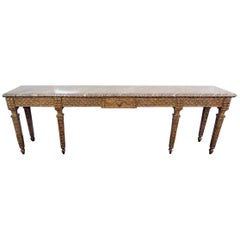 Jansen Style Marble-Top Console