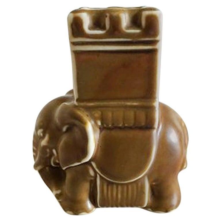 Bing & Grondahl Stoneware Elephant / Matchstick Holder #7653