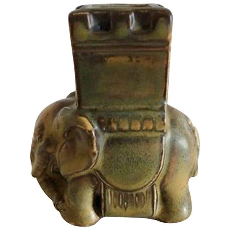 Bing & Grondahl Stoneware Elephant / Matchstick Holder #2125M