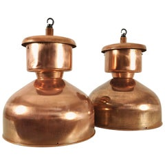 Copper-Plated Industrial Pendant Lights