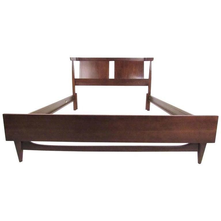 Mid-Century Modern Walnut Bedframe