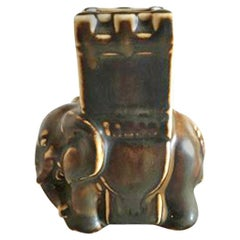 Bing & Grondahl Elephant with Howdah #2128 in Stoneware