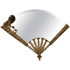 French Art Deco Fan Wall Mirror