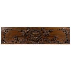 19th Century French Carved Walnut Architectural Panel
